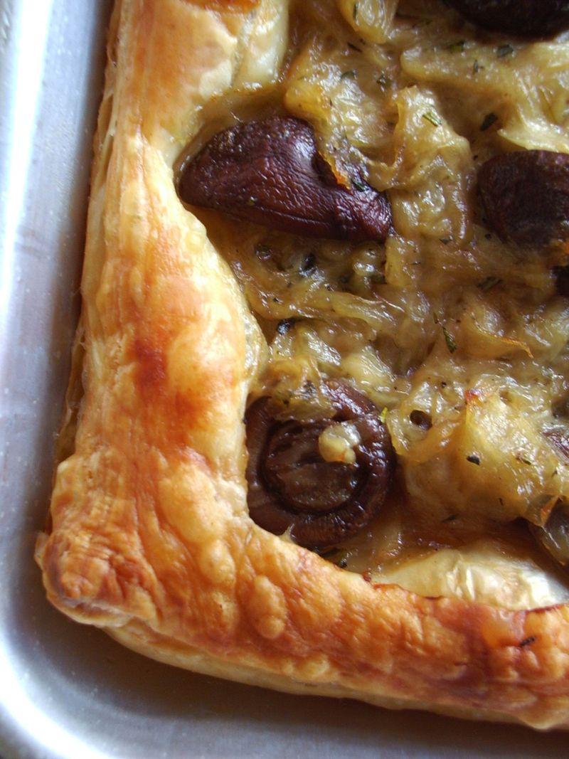 Onion mushroom tart 6