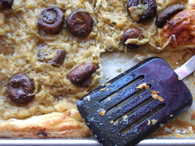 Onion mushroom tart 13