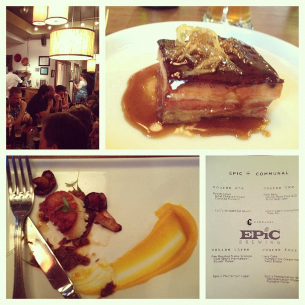 Epic Beer Pairing Dinner Communal